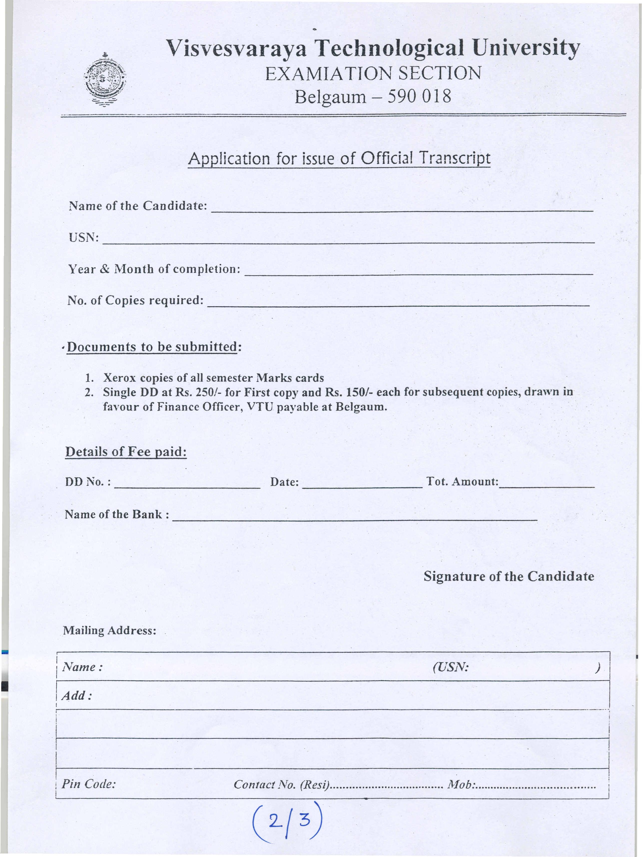 Sample Letter Request Transcript University