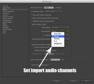 working with audio in premiere pro