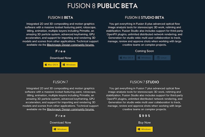 Compare Fusion 8 and Fusion 8 Studio