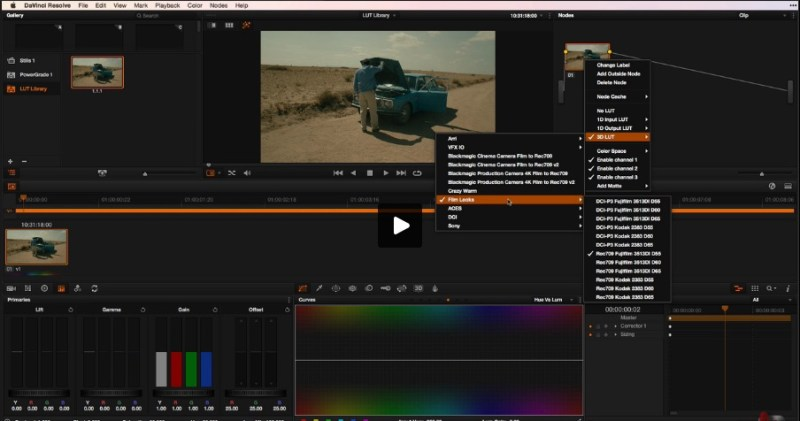 how to organise LUTS in Davinci Resolve