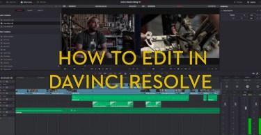 learn to edit in davinci resolve