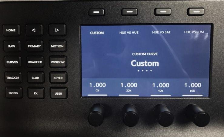Custom Curves Controls on BMD Mini