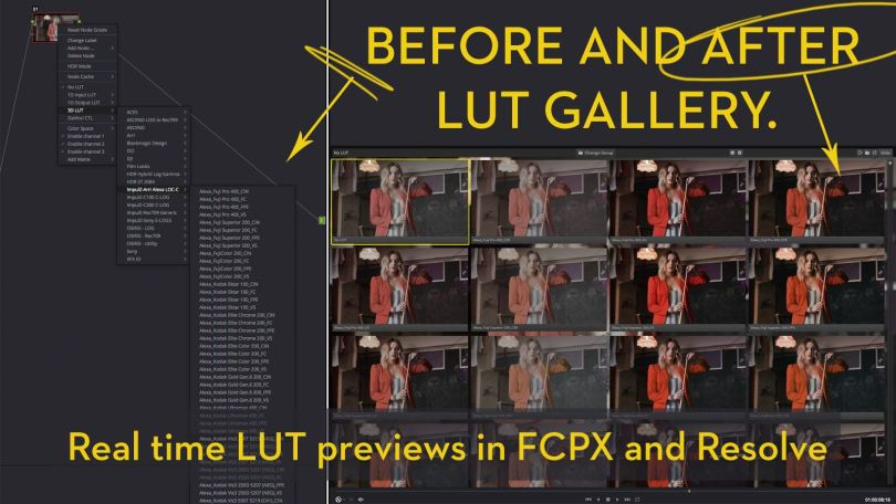 colorgradingcentral LUT Gallery Review FCPX and Resolve