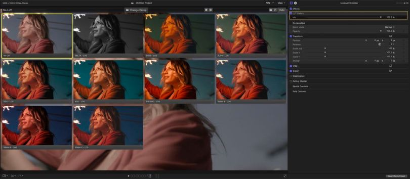 Using LUTS in FCPX