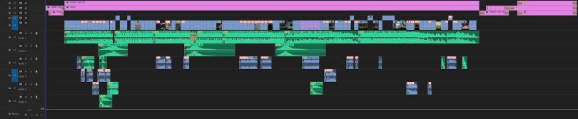 trailer edit timeline