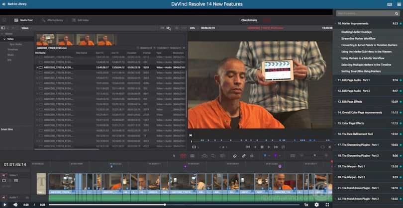 Ripple Training Davinci Resolve 14 new features review