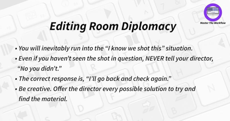 learning film editing room diplomacy