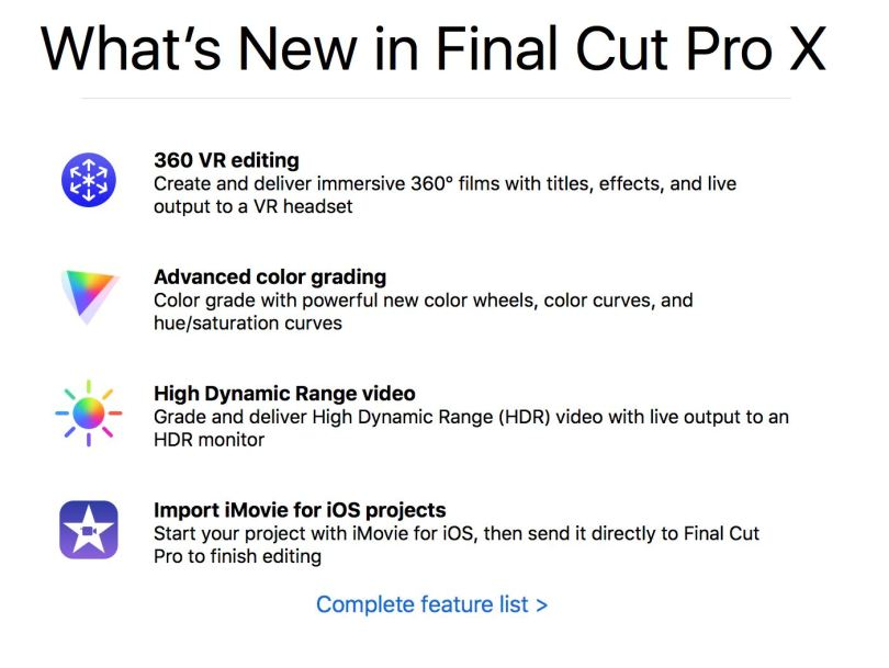 Whats new in FCPX 10.4