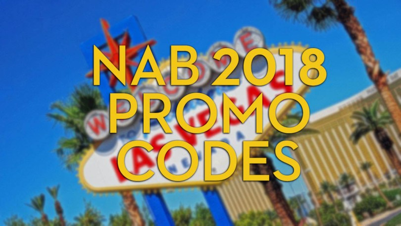 NAB 2018 promo codes