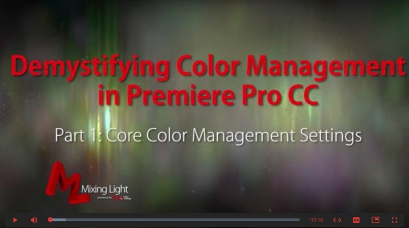 colour management in adobe premiere pro