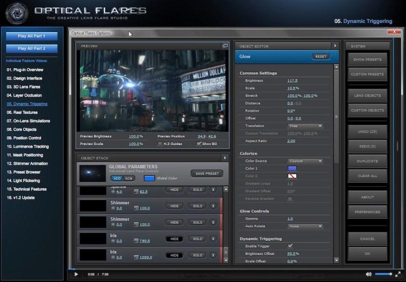 optical flares tutorials