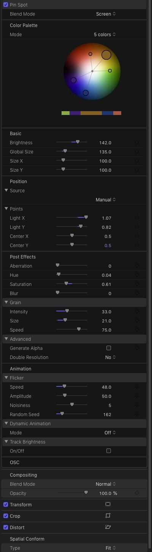 customising mflare2 lens flare
