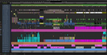 professional film editing timelines