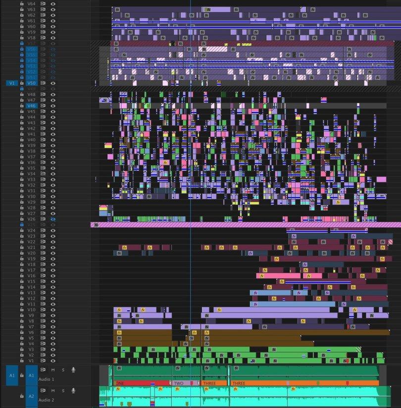 Unprofessional editing timelines