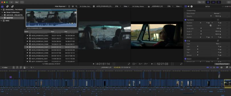 Editing a micro budget feature