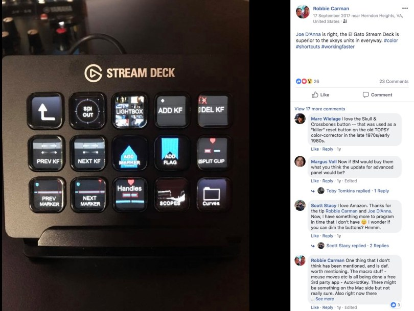 DaVnci Resolve StreamDeck