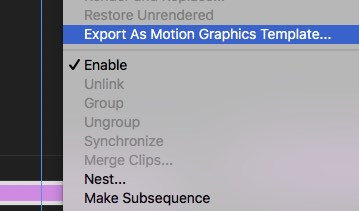 save export motion graphic template from premiere pro