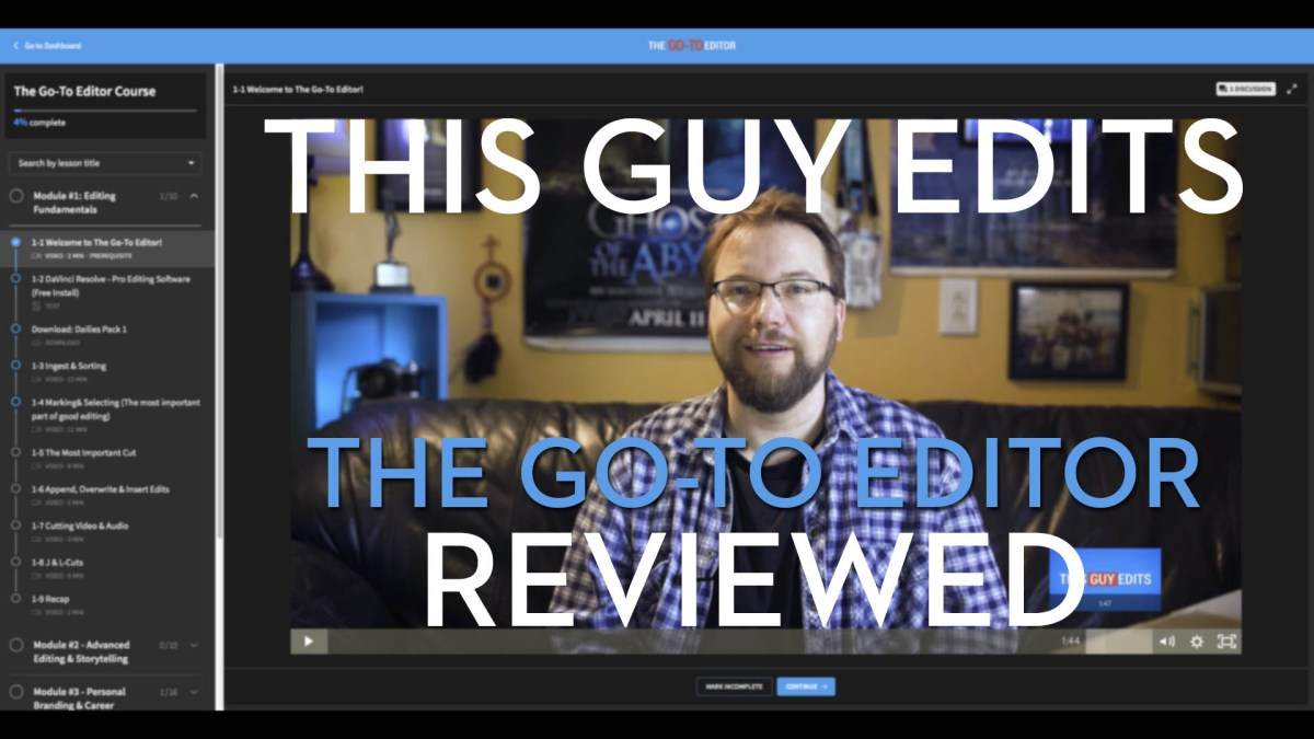 This Guy Edits - The Go-To Editor Course Reviewed | Jonny