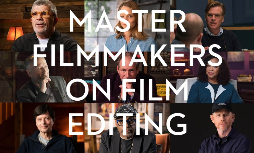 Masterclass filmmakers on film editing