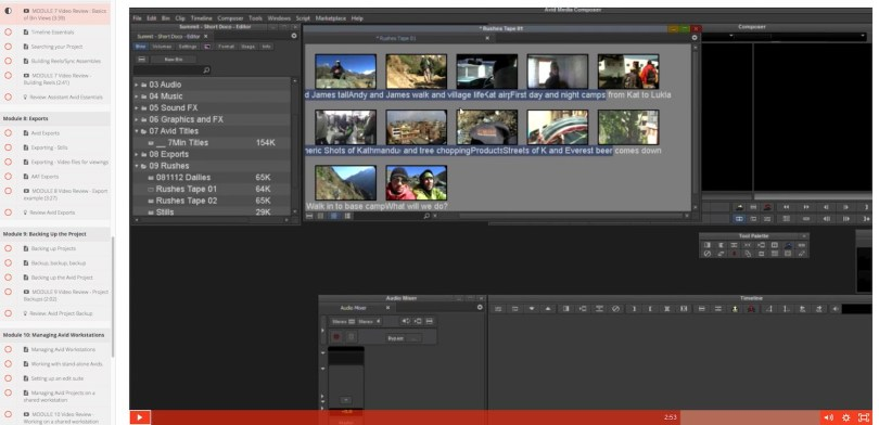 Free Avid Media Composer Assistant Editor Training