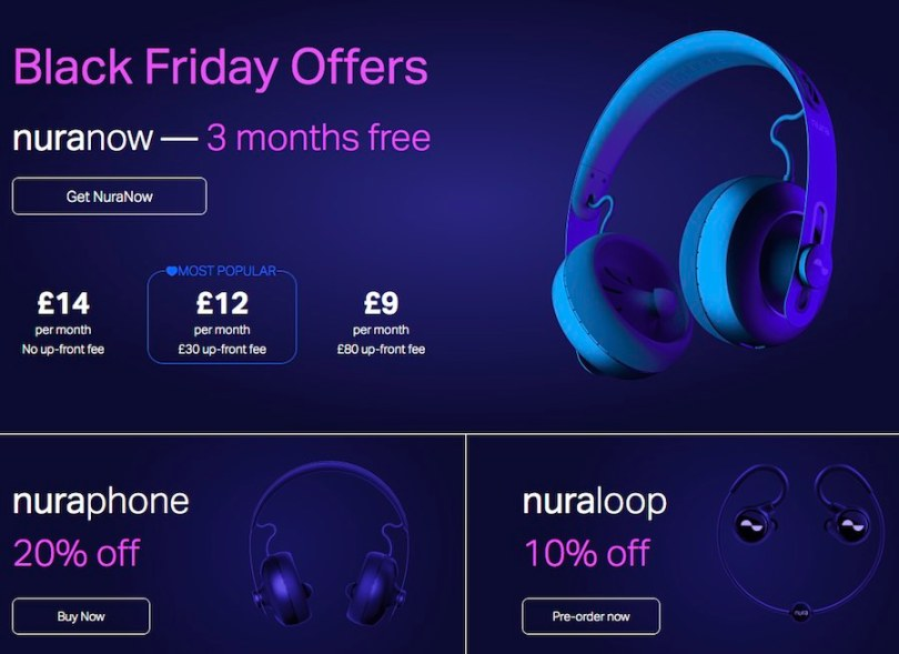 Black Friday Sale Nuraphones