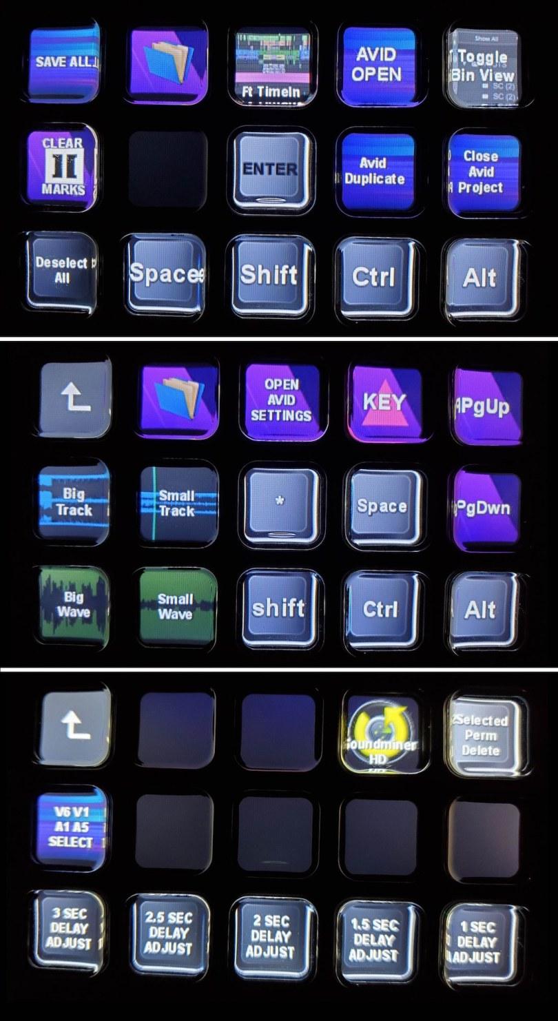 Film Editing Stream Deck Layout Avid Media Composer