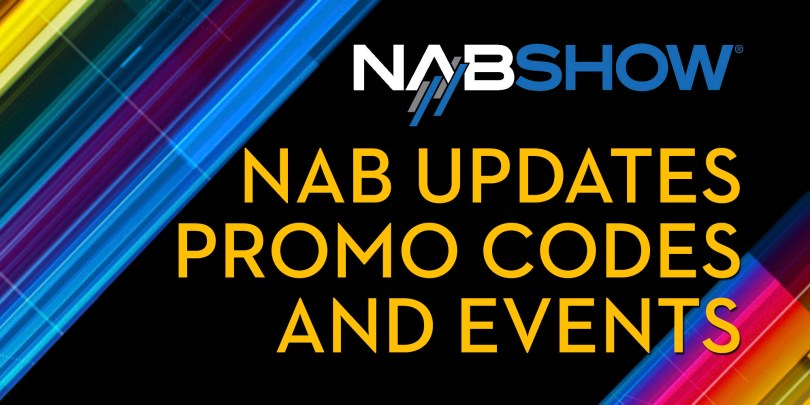 NAB show 2020 discounts, events, announcements