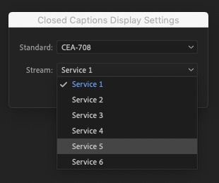 can't see closed captions in premiere pro
