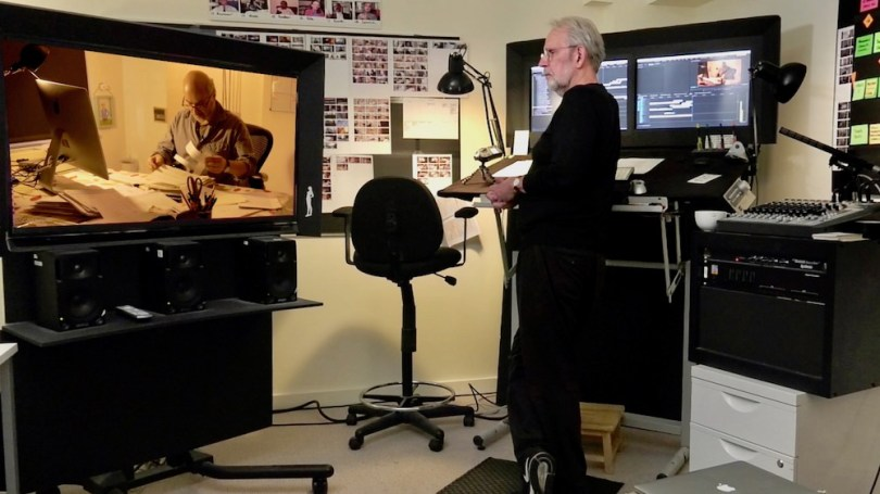 Walter Murch in the edit suite