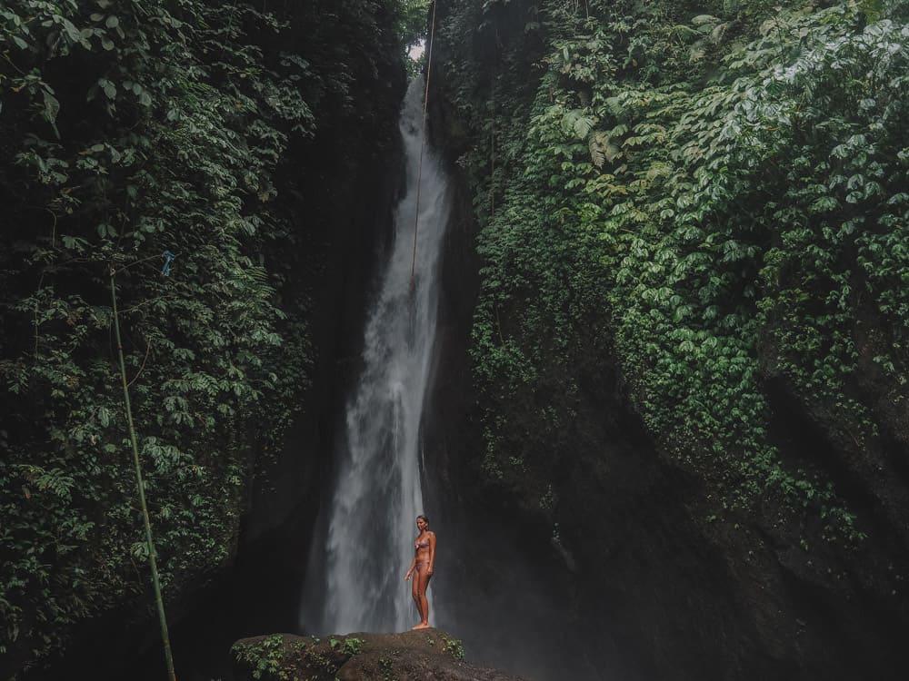 leke leke waterfall bali, leke leke waterfall