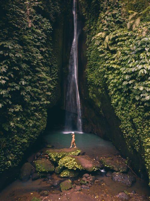 leke leke waterfall bali, leke leke waterfall, air terjun leke leke