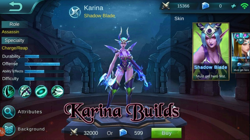 Panduan Mobile Legends Bang Bang – Hero Builds: Karina