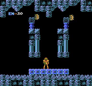 Metroid for NES, screenshot 1