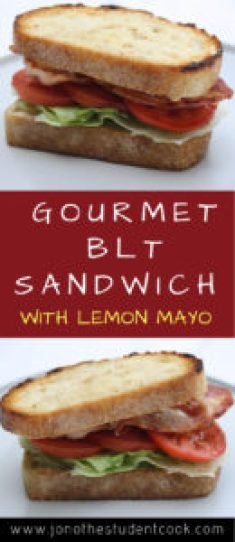Gourmet BLT Sandwich With Lemon Mayonnaise - Simple Cookery