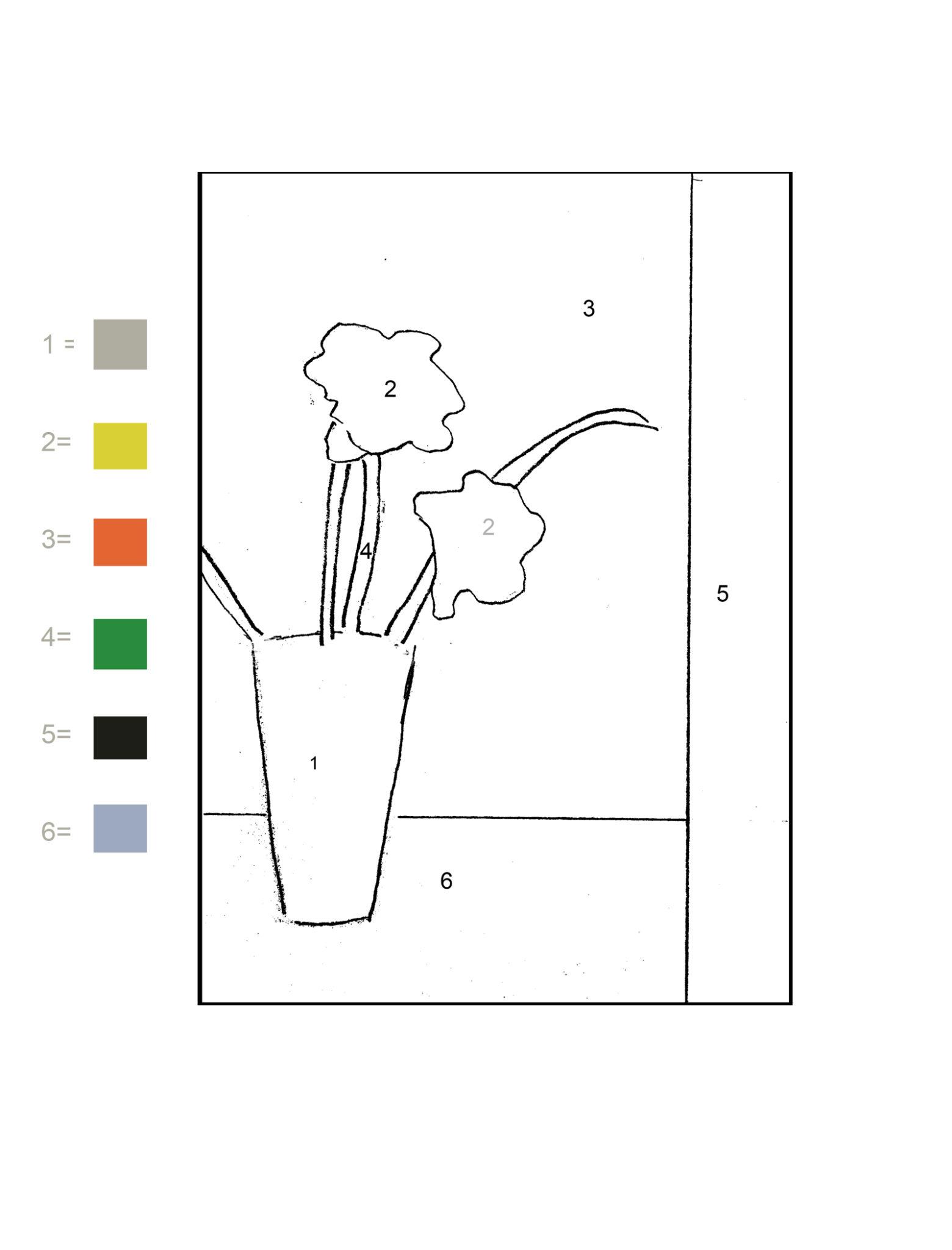 Paint By Numbers Worksheet Beginners