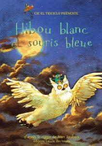 affiche hibou blanc