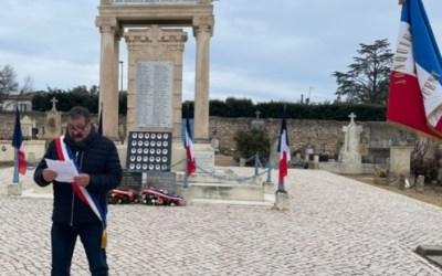 Cérémonie des Morts pour la France