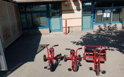 Le parc cycliste de l'école Li Droulets s'enrichit…