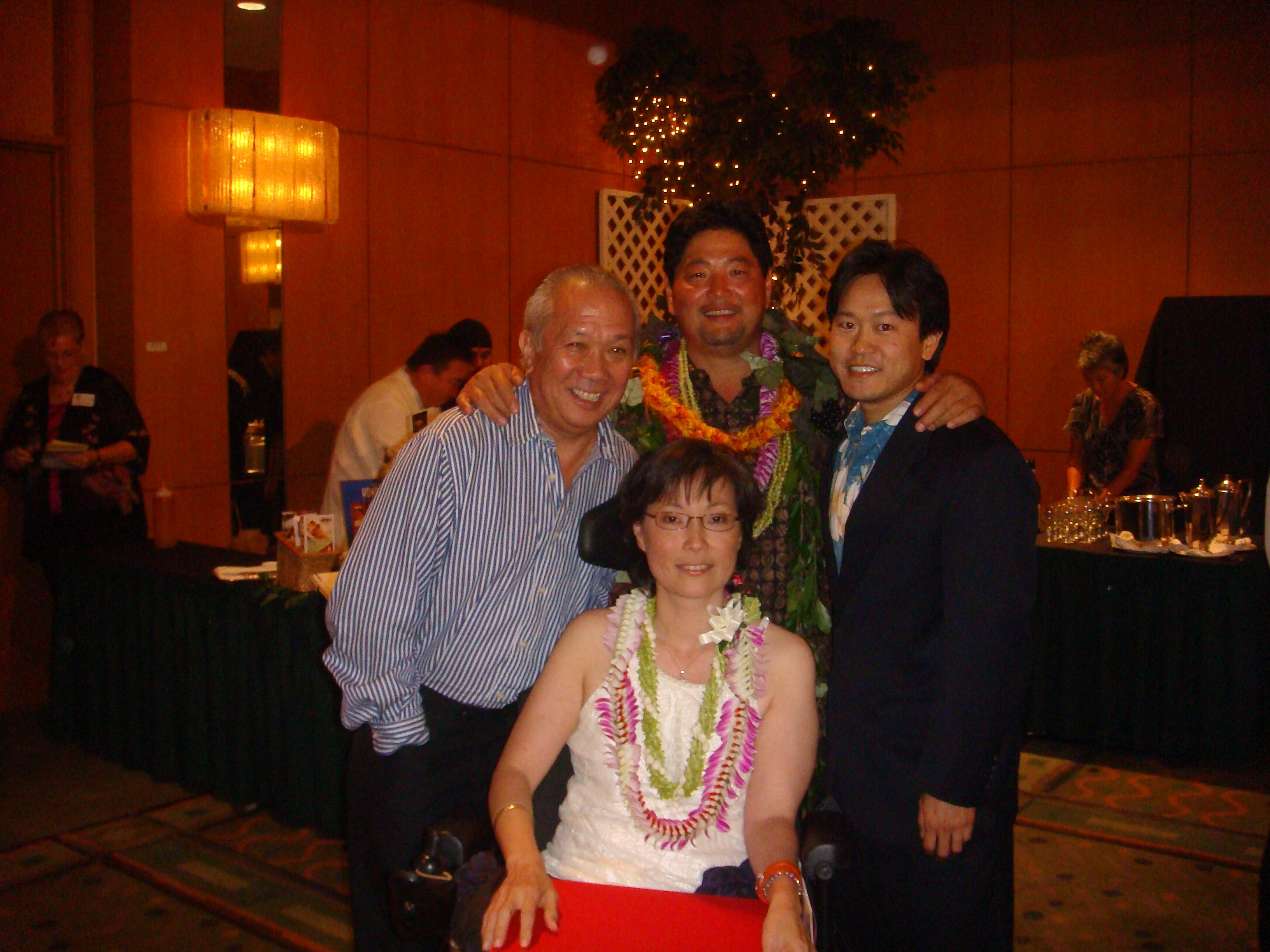 Speaker Calvin K.Y. Say, Chuck Furuya, Rep. Jon Riki Karamatsu, and Cheryl Ann Jong.