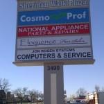 3498 Sheridan Drive street sign