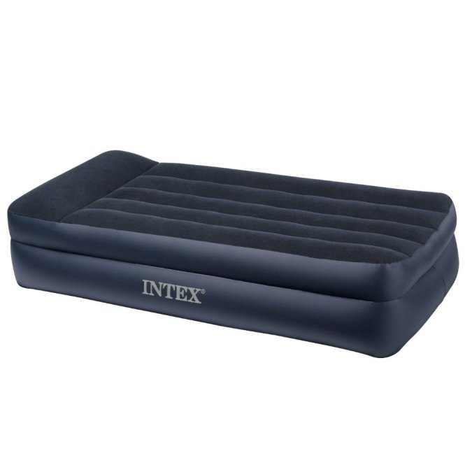 Intex Pillow Raised Airbed With Electric Pump Single Mattress