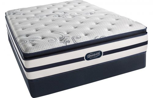 Simmons Beautyrest Recharge Plush Pillow Top King Mattress Pocketed Coil Gel Memory Foam