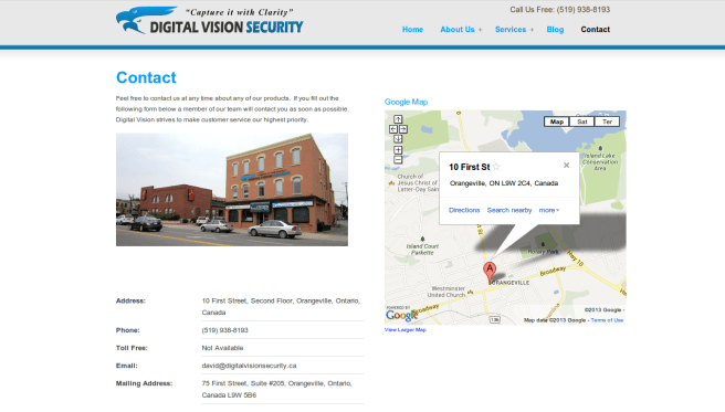 Digital Vision Security Contact