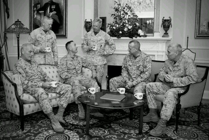 Gathering of Six Active-Duty Marine Corps Four-Star Generals