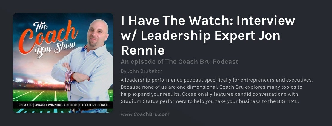 Interview on the Coach Bru Podcast