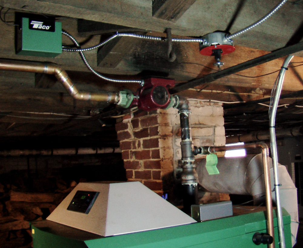 Central Heating With A Wood Gasification Boiler Jon Udell Electrical Wiring And Piping 4