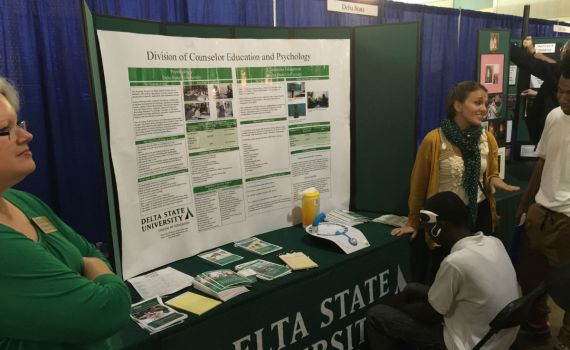 The DSU Division of Counselor Education & Psychology at the Greater Memphis National College Fair, September 2014.