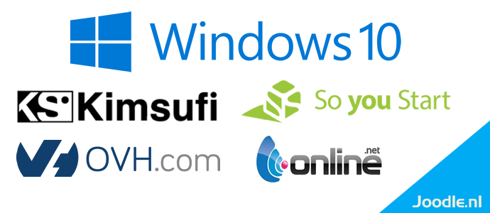 install windows 10 on kumsufi, soyoustart, ovh, online.net