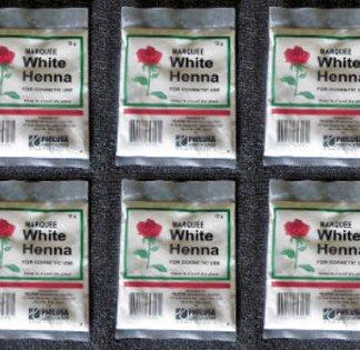 6 white henna bleaching powder new