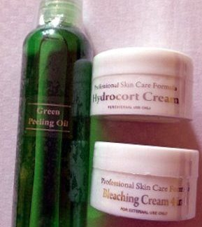 Green peeling oil with 2 Hydrocort cream new